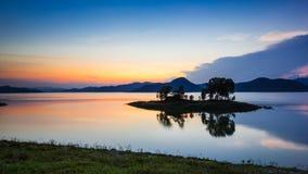 Twilight at reservoir Royalty Free Stock Photos
