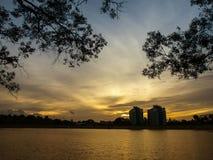 Twilight at Reservoir Stock Photo