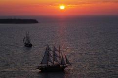Twilight. The romantic twilight of Aegean Royalty Free Stock Photography