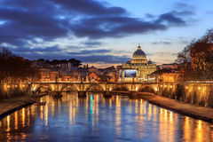 Twilight in Rome Royalty Free Stock Photography