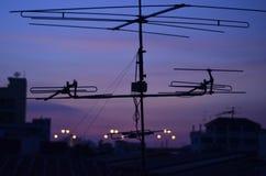 Twilight Roof Stock Photo