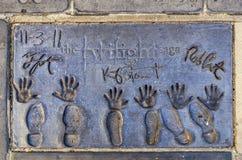 The Twilight sagas handprints Royalty Free Stock Photos