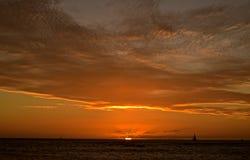 Twilight Sailing Stock Images