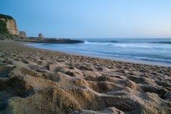 Twilight on the sand beach in Santa Cruz Royalty Free Stock Photo