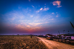 Twilight of Sangam Stock Image