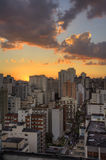 Twilight in Sao Paulo Royalty Free Stock Photo