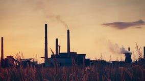 Twilight scene of coke plant stock video footage