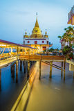 Twilight scene of wat hongtong temple important landmark. Stock Photos