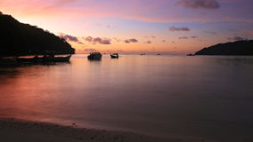 Twilight scenic at Andaman sea Royalty Free Stock Photos