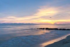 Twilight at sea beach Stock Photo