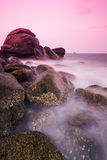 Sea shore at twilight Royalty Free Stock Photo
