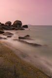 Sea shore at twilight Royalty Free Stock Photography