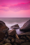 Sea shore at twilight Stock Photos