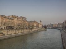 Twilight on the Seine Stock Image