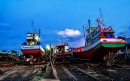 Twilight at Shipyard Stock Image