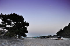 Twilight shot of Arashiyama,a touristic area in the north west p Royalty Free Stock Image