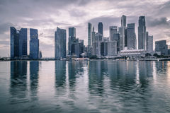 Twilight In Singapore City Stock Images