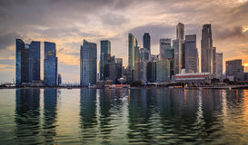 Twilight In Singapore City Stock Photography