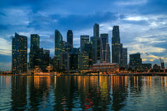 Twilight In Singapore City Royalty Free Stock Photo