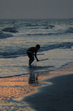 Twilight skimboarding Stock Photos