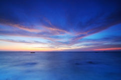 Twilight sky. Above the sea Royalty Free Stock Photography