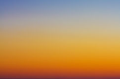Twilight Sky. A background of sky lit in beautiful twilight colors Royalty Free Stock Image