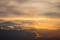 Twilight sky background. Colorful Sunset sky and cloud.vivid sky in twilight time background.Fiery orange sunset sky. royalty free stock image