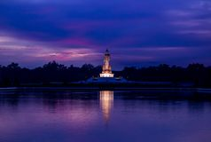 Twilight sky and Buddha statue at  Phutthamonthon,Nakhon Pathom,Thailand Royalty Free Stock Images