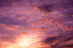 Twilight Sky with Cloudy, Many Shade of Sky. Twilight Sky with Cloudy, Sunset Sky at the Island Stock Images