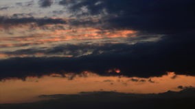 Twilight sky colors on the clouds. Time-lapse stock video footage