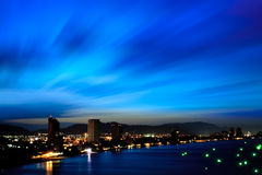 Twilight sky of HuaHin city, Thailand Stock Images