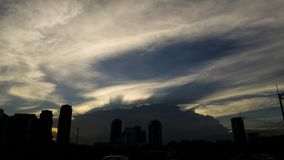 Twilight on the sky line at the city. Bangkok Thailand Stock Images