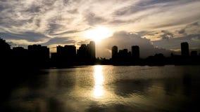 Twilight on the sky line at the city. Bangkok Thailand Stock Image