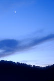 Twilight sky with moon Stock Image