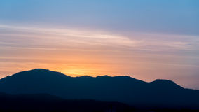 Twilight sky and Mountain Royalty Free Stock Images
