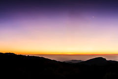 Twilight sky on the mountain Royalty Free Stock Images