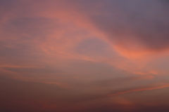 Twilight Sky Of Beautiful In The Thailand Summer. Stock Image