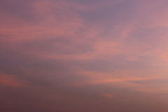 Twilight Sky Of Beautiful In The Thailand Summer. Royalty Free Stock Photography