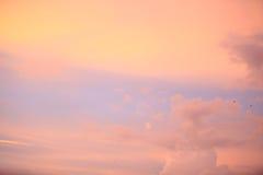 Twilight sky.Purple sky clouds,Blue sky with clouds. Stock Photo