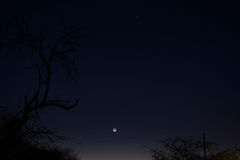 Twilight sky in South Africa in winter. Royalty Free Stock Image