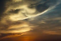 Twilight sky on sunrise. Dramatic twilight sky on sunrise/sunset Royalty Free Stock Photos