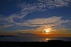 Twilight sky before sunset. Over the sea Stock Photos