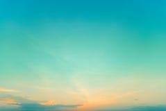 Twilight sky  on sunset time Stock Photography