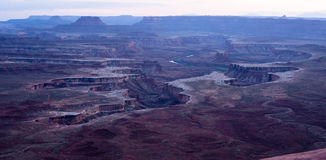 Twilight Soda Springs Basin Green River Utah Wilderness Royalty Free Stock Images