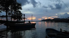 Twilight in songkhla thailand. Before sunset beautiful in the day stock video