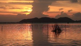 Twilight in songkhla thailand. Before sunset beautiful in the day stock footage