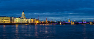 Twilight in St. Petersburg, Russia Royalty Free Stock Image