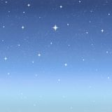 Twilight stars in starry sky Stock Images