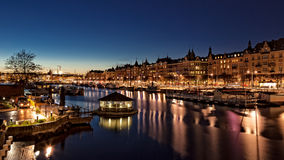 Twilight in Stockholm Stock Photography