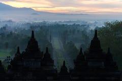 Twilight stone stupa of Borobudur Royalty Free Stock Image
